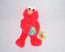"Sesame Street ELMO w/A Block Small Plush 9"" Tall by NANCO From 2006 w/Tags - $12.96"