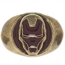 Marvel Iron Man Brushed Gold Tone Ring Free Sam... - $18.88