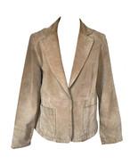 90s Sand Dollar Genuine Suede Leather Single Breast Blazer Vintage Jacke... - $41.00