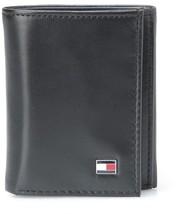 TOMMY HILFIGER MEN'S LEATHER CREDIT CARD WALLET SLIM TRIFOLD BLACK 31TL11X018