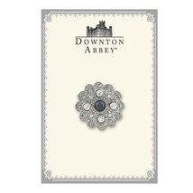 Downton Abbey Collection Silver Tone Flower Blue Crystals Brooch Pin 17513 - $30.57