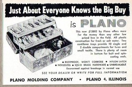 1960 Print Ad Plano #5802 Plastic Fishing Tackle Box Boxes Plano,IL - $10.02