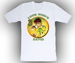 Ben 10 Personalized White Birthday Shirt - $16.99+