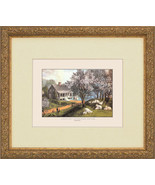 4 Currier Ives Prints American Homestead Four S... - $199.99