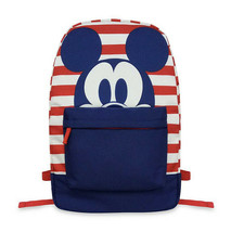 DISNEY Store Mickey Mouse Red White & Blue Americana Striped Backpack ~ NWT - $24.39
