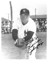 Johnny Mize signed New York Yankees B&W 8x10 Photo To John Jr. Best Wishes - $15.00