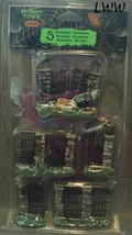 Lemax Spooky Town Spooky Iron Gate And Fence Set of 5 Halloween Haunted House - $14.99