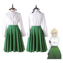 Violet Evergarden Uniform Dress Casual Shirt Skirt Set Cosplay Costume Dress - $37.96