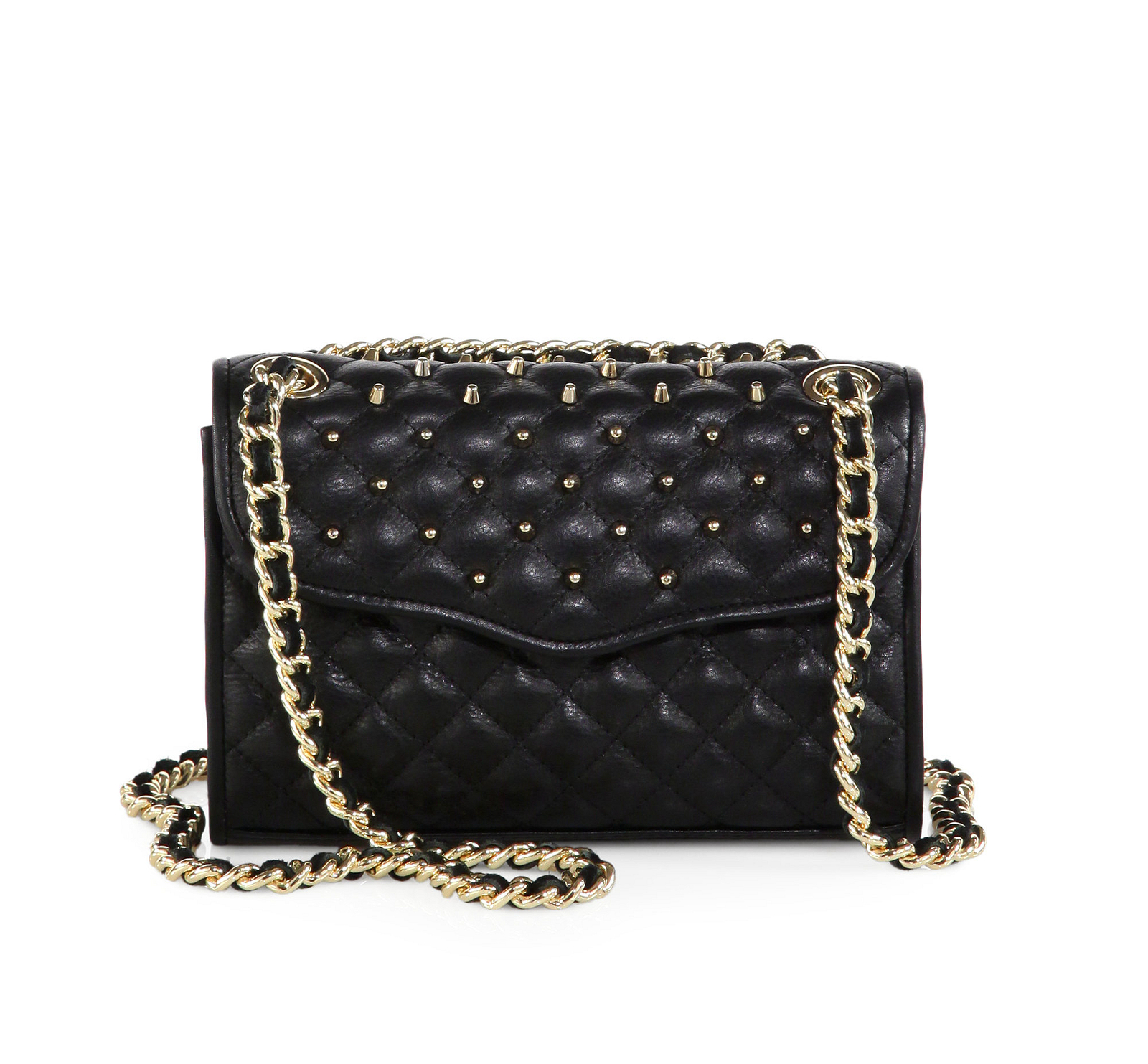 Nwt Rebecca Minkoff Studded Mini Affair Black Quilted