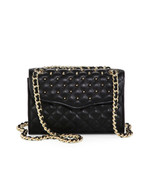 NWT Rebecca Minkoff Studded Mini Affair BLACK Quilted Leather Crossbody ... - $168.00
