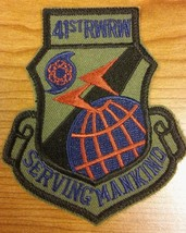 USAF 41st RWRW Jacket Patch - United States Air Force Military Serving Mankind - $19.79
