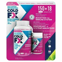 2 X Cold FX Extra strength Immunity Booster 168 capsules 300 mg EACH,LON... - $140.98