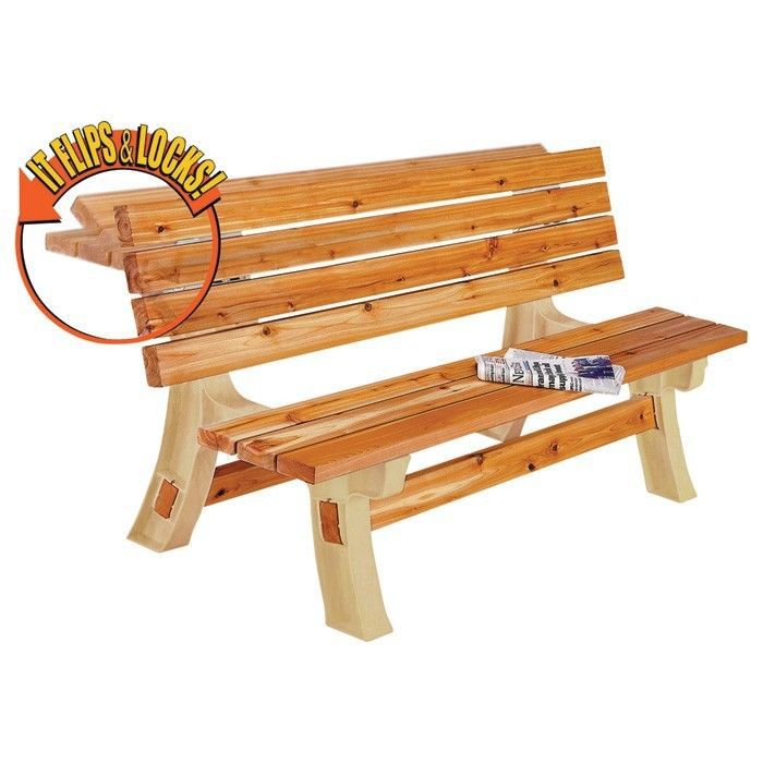 Bench Table Outdoor Garden Patio Yard Furniture Wooden