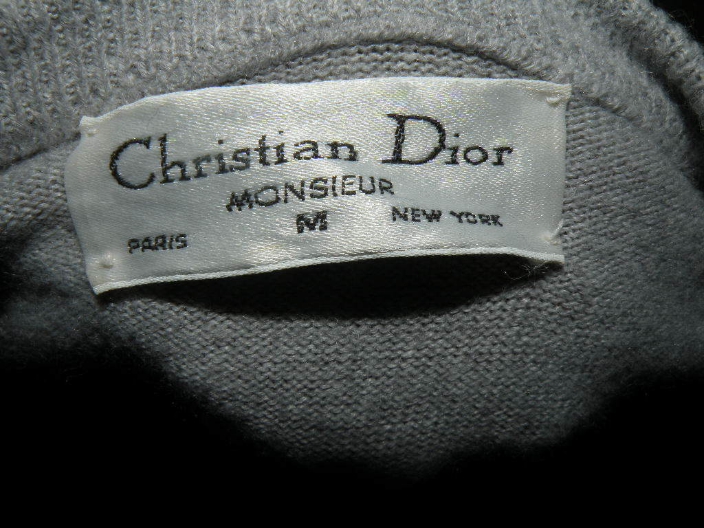 CHRISTIAN DIOR Men's Pullover Shirt/Sweater M Grey Soft Fabric  Authentic