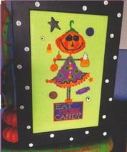 Eat More Candy halloween cross stitch chart Amy Bruecken Designs - $7.20