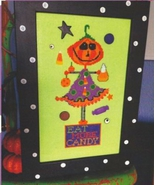 Eat More Candy halloween cross stitch chart Amy Bruecken Designs - $7.20