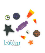BUTTON PACK JABC 9959 Eat More Candy halloween Amy Bruecken Designs - $19.25
