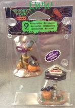 Halloween Lemax Spooky Town Village Monster Mail Boxes set of 2 Witch Dr... - $5.99