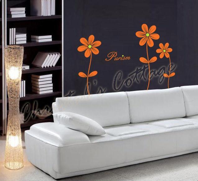 3 Daisy Flower Vinyl Wall Art Sticker Decal Decoration Bedroom Livingroom T=70cm - $16.05