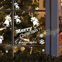 6 Christmas Bell 18 Mix Snowflake Snow Wall Art Window Decoration Sticker Decal - $9.99