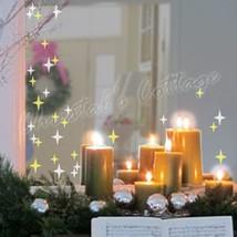 83 Sparkling 4Points Star Glitter Dazzle Wall Art Shop Window Sticker Decoration - $3.95+