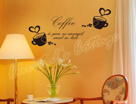 Big Coffee Sign Window Wall Art Sticker Decal Fashion  Decoration Cafe Kitchen - $17.16