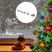 Christmas Santa Claus is Coming 2 Town Decal Sticker Shop Window Wall Decoration - $14.32+