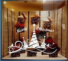Christmas Tree 5 Ribbon Shopwindow Show Window Wall Art Decoration Sticker Decal - $22.76+