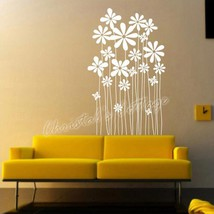 Daisy Flower Plants Vinyl Wall Art Graphic Sticker Decals Fashionable Decoration - $10.62