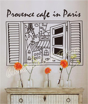 Large Coffee in Paris Wall Art Sticker Decal Fashionable Decoration Cafe Sign - $20.08