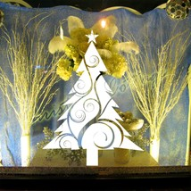 Christmas Tree Vine Design & Star Sticker Shop Window Wall Art Decoration DecalS - $13.85+