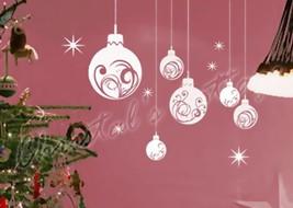 Large Christmas Ball Show Window Shopwindow Wall Art Decoration Sticker - $14.44+