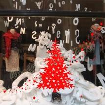 Large Christmas Tree & Star Show Window Shopwindow Wall Art Decoration Sticker - $13.85+