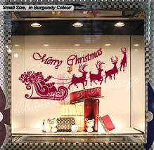 Large Santa Claus Christmas Deer Shop Window Wall Art Decoration Sticker Decal N - $15.16+