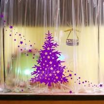 Large Christmas Tree & Star Show Window Shopwindow Wall Art Decoration Sticker - $12.23+