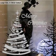 Large Polka Dot Christmas Tree Shop Window Wall Art Decoration Sticker Decal - $14.35+