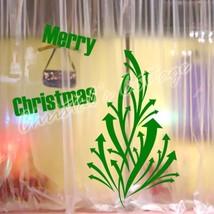 Large Morden Design Christmas Tree Shop Window Wall Art Decoration Sticker Decal - $12.79+