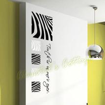 Set of 5 Zebra Stripe Pattern Vinyl Wall Art Sticker Decal Fashion Decoration - $17.91+