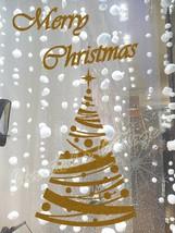 STr6 Polka Dot Christmas Tree Star Sticker Shop Window Wall Art Decoration Decal - $14.37+