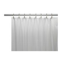 Mildew-Resistant 10 Gauge Vinyl Shower Curtain Liner Metal Grommets Frosty Clear - $23.59