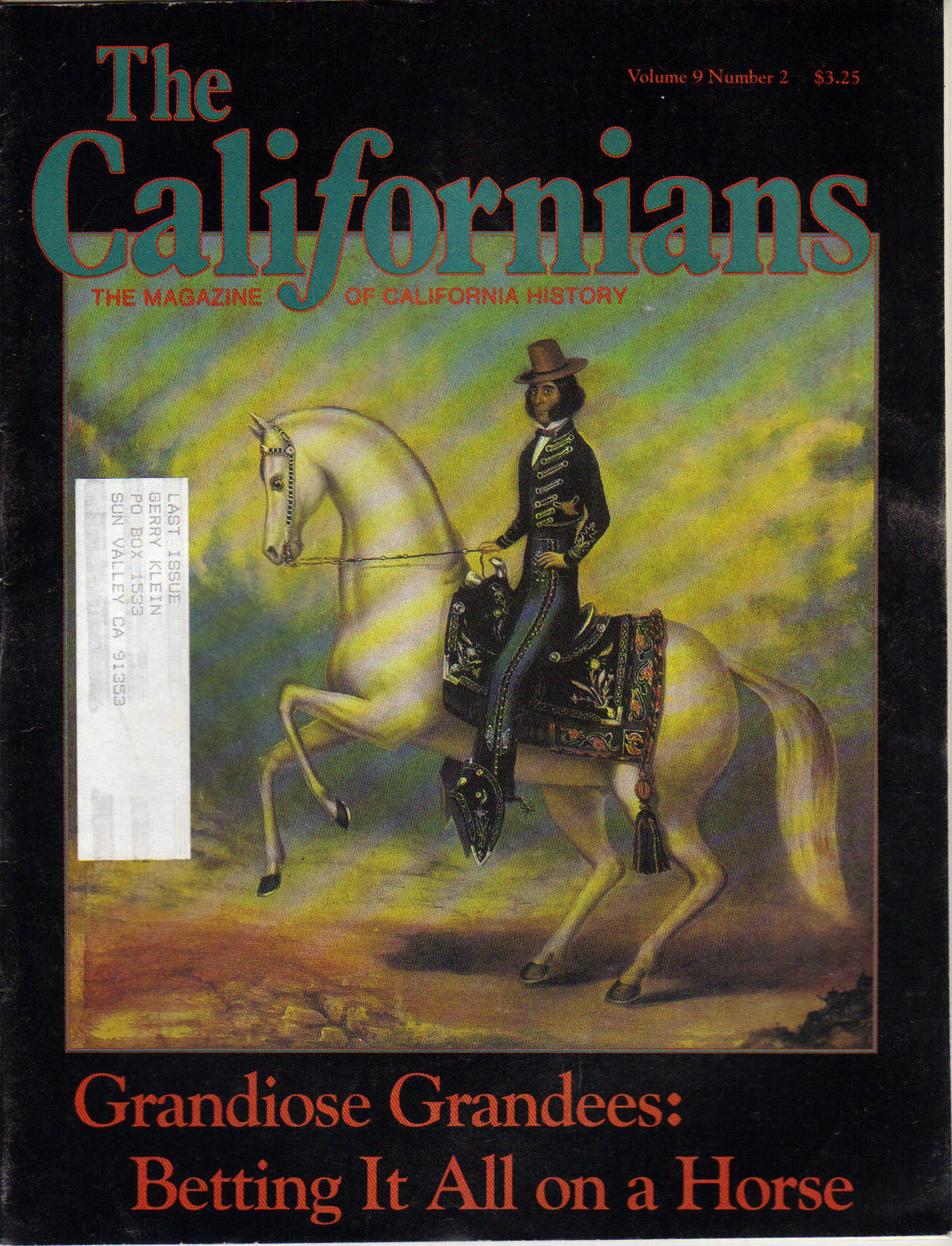 The Californians Magazine, The Magazine of California History - 5 Back-Issues