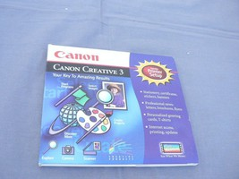 Canon Creative 3, Includes Printer Setup - Your Key to Amazing Results - $4.95