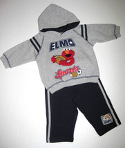 BOYS 12 MONTHS - Sesame Street - Elmo HOODED SWEATSHIRT & SPORTS PANTS SET - $15.85