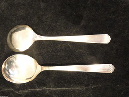 Oneida Surf Club 2 Soup Spoons Rogers Bros 1881 Silverplate Flatware - $14.99