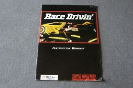 Super Nintendo SNES: Race Drivin' [Instruction Book Manual ONLY] - $5.00