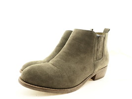 Journee Collection Women's Ramses Bootie, Grey Suede, Size 8.5 B(M) US - $44.45