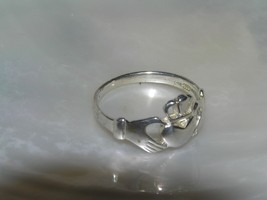 Estate 925 Signed Irish Claddagh Wedding Band Ring Size 9.25 – marked on... - $18.12