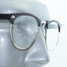 Reading Glasses Interview Reporter Style Mens Half Rim Black Frame +3.00... - $24.00