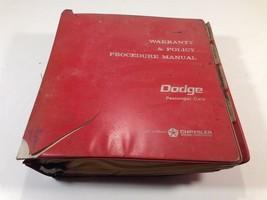 1966 Dodge Passenger Cars Warranty & Policy Procedure Manual Rough - $24.99