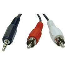 Tripp Lite P314-012 3.5mm Stereo to 2 RCA Audio Y-Splitter Adapter (12ft) - $21.04